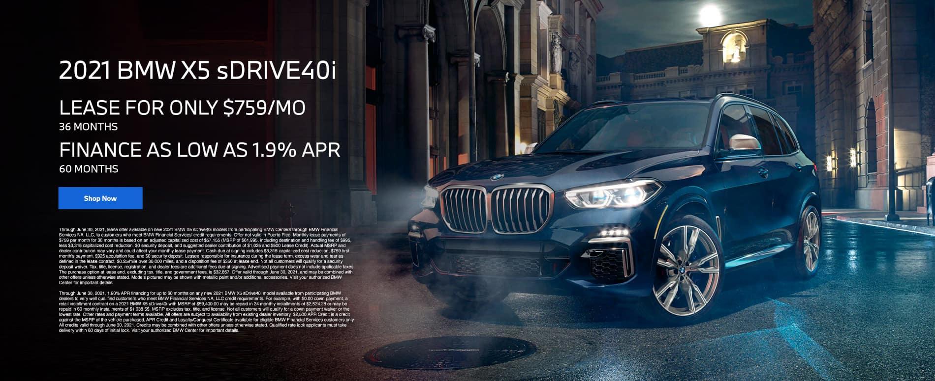 BMW X5 Offer