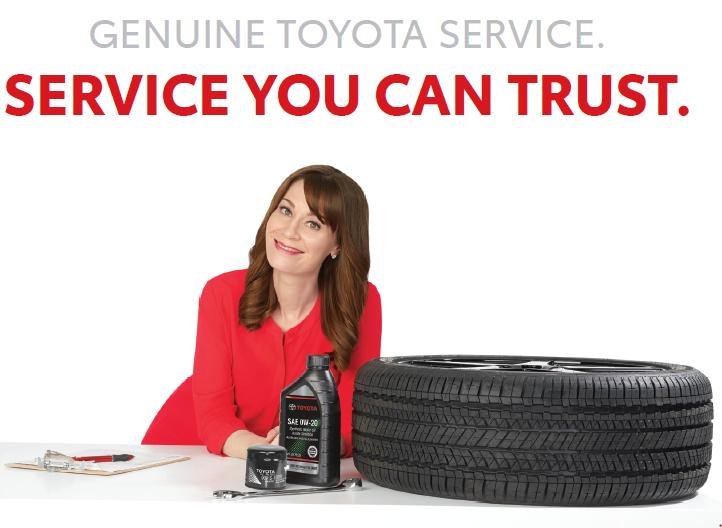 Toyota Gnuine Service banner