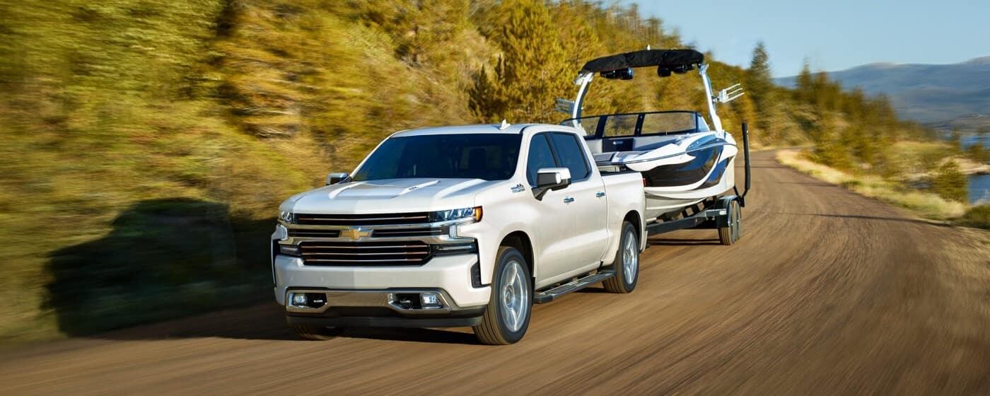 2020 Chevrolet Silverado 1500 Towing a Boat