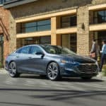 2020 chevy malibu parked on the side of a street