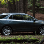 2020 Chevy Equinox parked in the forest
